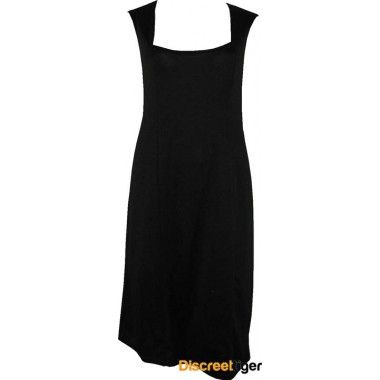 "Gorgeous black panelled shift dress with square neckline. When they say ""dressed to impress"" this is the kind of dress they are talking about, made from Ponte Roma fabric and imported from the UK it is simple yet stunning. Suitable for any occasion, it measures down past the knee. This classic design should be part of every girl's wardrobe."