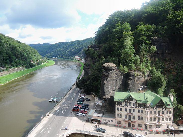 Hřensko and river ELbe