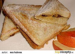 Jablkové toasty recept - TopRecepty.cz