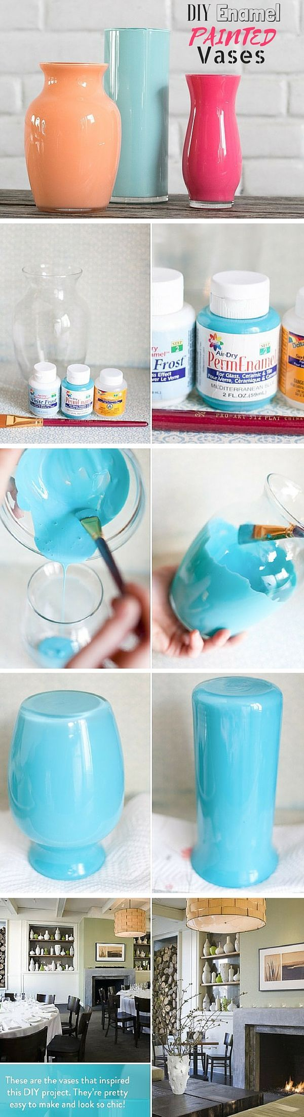 Check out the tutorial: #DIY Enamel Painted Vases #crafts #decor♥✿♥ヅ @tonjaamenra