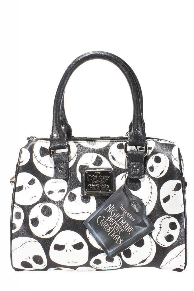 Inked Boutique - Jack Faces Black/White Mini City Handbag Jack Skellington Nightmare Before Christmas http://www.inkedboutique.com