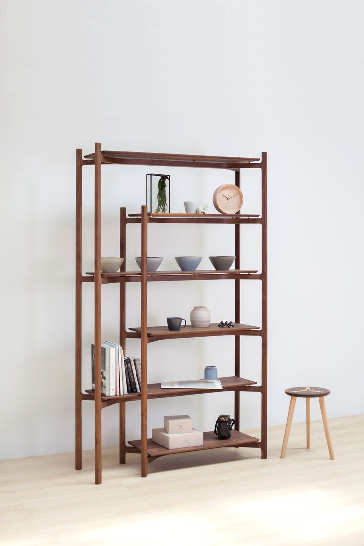 Y50 shelf in walnut by Lo Lat