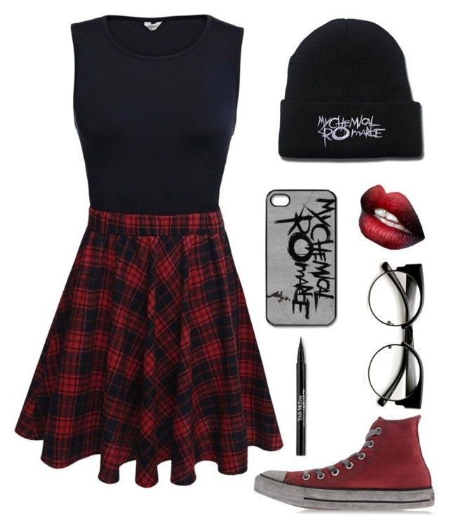 """""""MCRX (rtd)"""" by bandumb ❤ liked on Polyvore featuring Converse, Trish McEvoy"""