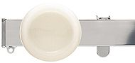 Silent Gliss Metroflat 36mm, 6100 Curtain Track, Chrome, Discus Midial White