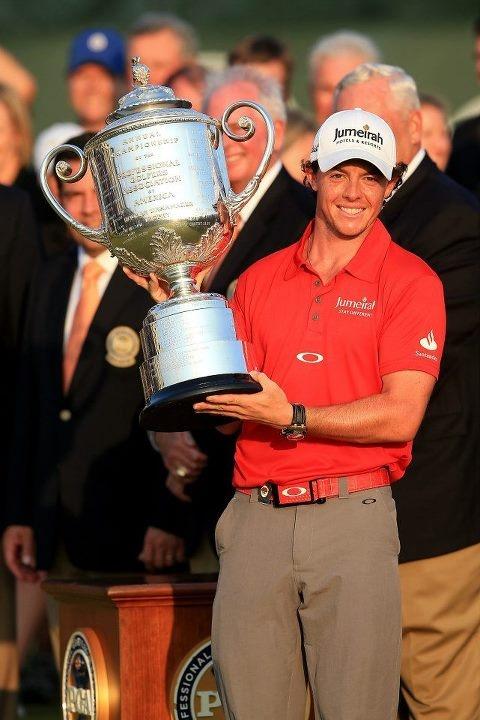 The 94th PGA Championship 2012 winner Rory McIllroy celebrates!