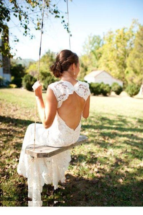 Wedding Dress ~ Lace Back Details