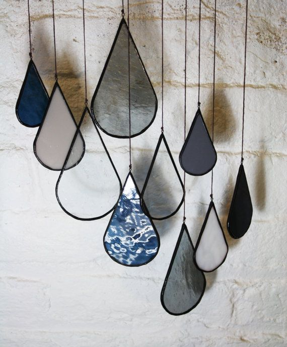 Etsy listing at https://www.etsy.com/listing/209856938/stained-glass-elements-raindrops-set-of