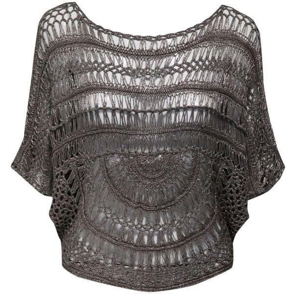 Jane Norman Crochet batwing top ($46) found on Polyvore