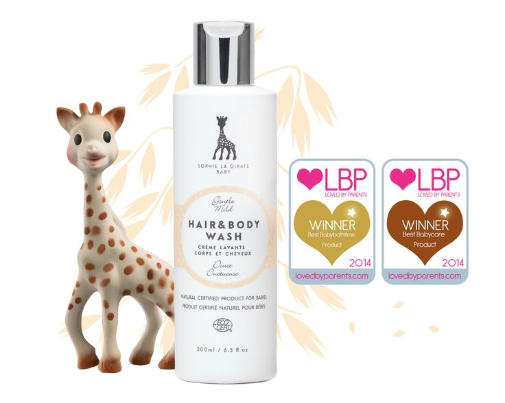 Sophie la Girafe Hair & Body Wash - Best baby products 2014 by LBP