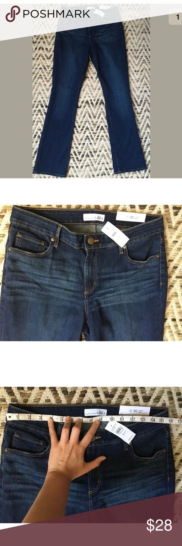 NWT Ann Taylor LOFT Curvy Boot Cut Jeans Size 10 New With Tags. Retails $69.50 Anne Taylor LOFT curvy bootcut jeans Size 10 or 30  Approximate measurements: Inseam: 35 Hip: 19.5 Ankle: 9 Thigh: 9.25 Ann Taylor Jeans Boot Cut