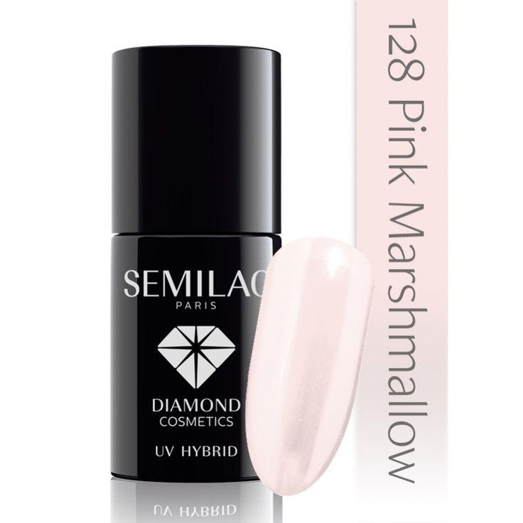 Ημιμόνιμο μανό Semilac - 128 Pink Marshmallow 7ml - Semilac | Προϊόντα Μανικιούρ - Πεντικιούρ Semilac & Ημιμόνιμα.