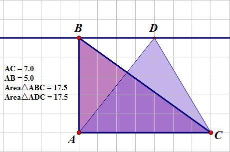 DiscoveringTheAreaFormulaForTriangles IMAGE TrianglesWithSameArea