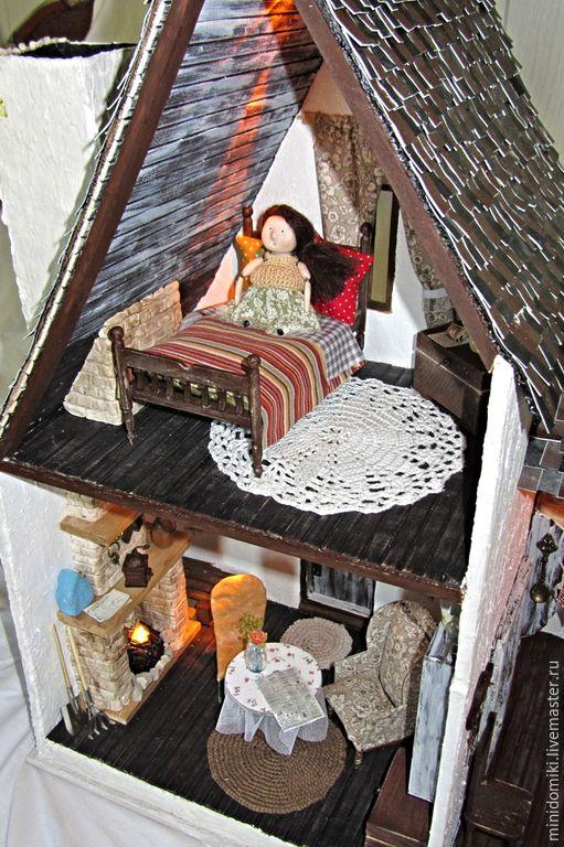 Кукольный дом ручной работы. Ярмарка Мастеров - ручная работа. Купить Дом в лесной чаще 1:12. Handmade. Разноцветный, сказочный