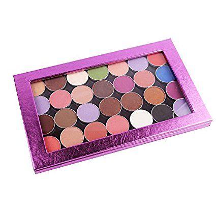 Vacío magnético Paleta de maquillaje cosméticos de viaje de tamaño grande Organizar Bolsa Color Morado Freestyle Paleta de Sombra de Ojos: Amazon.es: Hogar