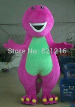 2014 Brand New Custom made High quality Adult Barney Cartoon Mascot Costumes on Adult Size