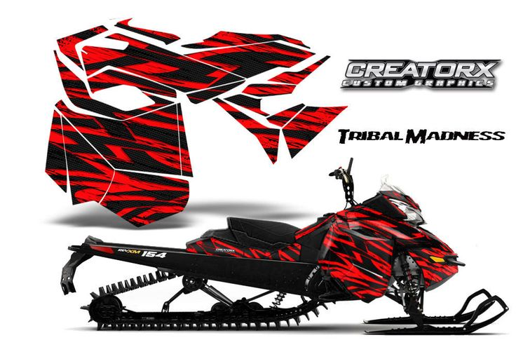 """Ski-Doo Rev Xm Summit Snowmobile Sled Graphics Kit Wrap Creatorx Decal Tmr FOR SALE • $299.95 • See Photos! Money Back Guarantee. """"TRIBAL MADNESS"""" """"NEW"""" CREATORX Custom Graphics Kit for: SKI-DOO Rev XM Snowmobile Graphic Kit 2013-2016 """"TRIBAL MADNESS"""" created by CREATORX ©2012 You can only get these kits from Graphic Kits 281022723430"""