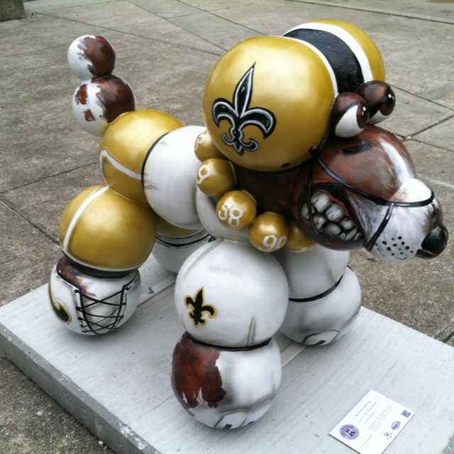 Location: In front of Superdome, Sugar Bowl Drive Artist: Tracy Plaisance Sponsor: New Orleans Saints