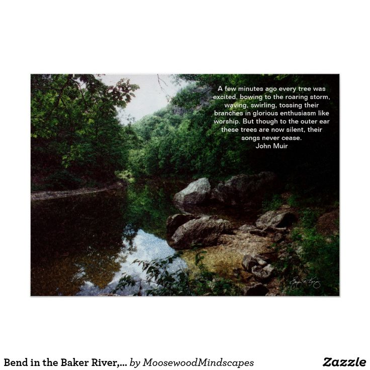 Bend in the Baker River, Rumney, NH Poster