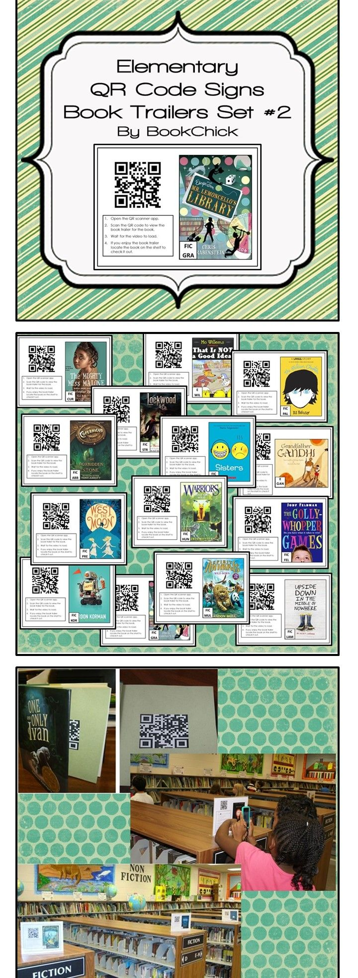 Use QR book signs to promote reading in your classroom or library.