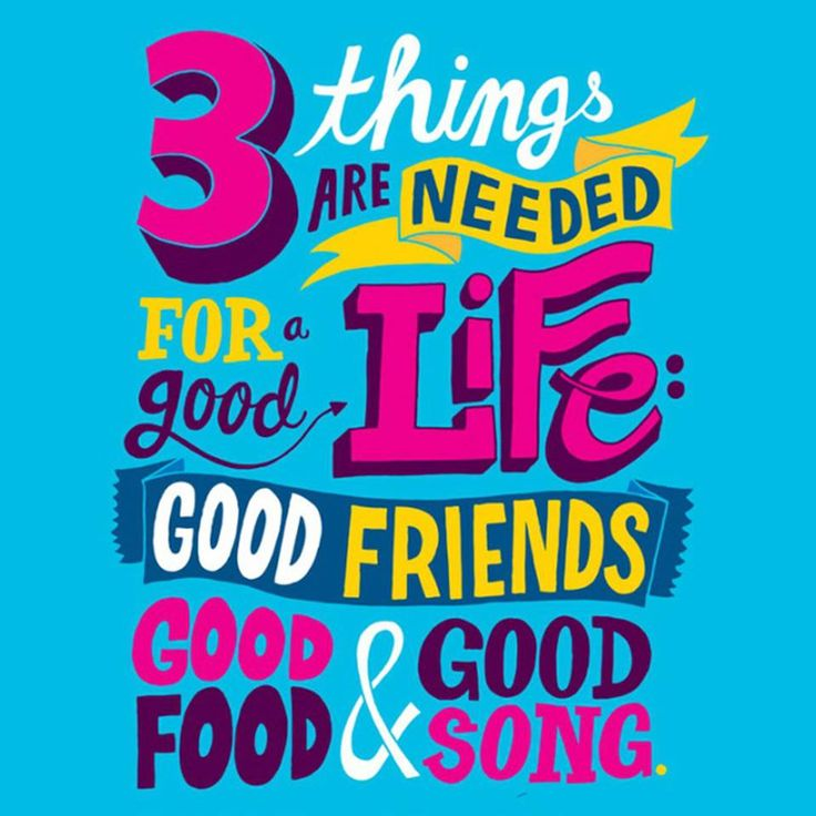 Greenwich Pizza Philippines quote from Facebook - 3 things are needed for a good life: GOOD FRIENDS, GOOD FOOD and GOOD SONG. #fact #life