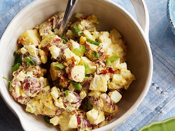 Texas Country Potato Salad from FoodNetwork.com Paula Deen's best potato salad recipe :) soo good super easy ingrediants everyone already has in their fridge . Perfect for 4th of July or any back yard BBQ