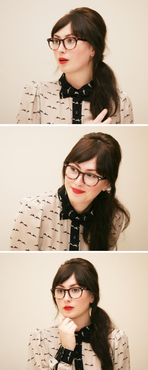 Retro. Reminds me of Zooey Deschannel.