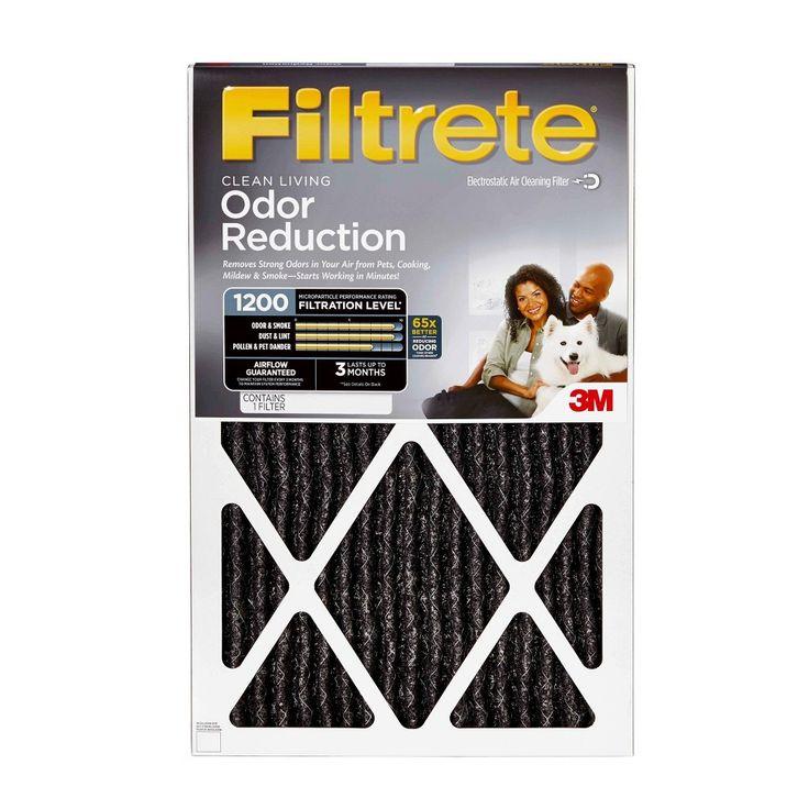 Filtrete odor reduction 16x20x1 air filter hvac filters
