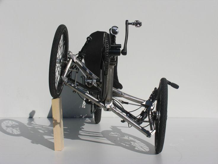 Trike Eigenbau mit Neigetechnik