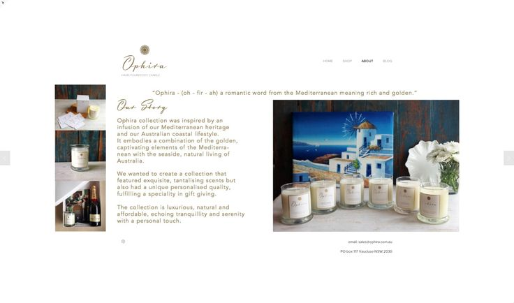 Ophira Website Design