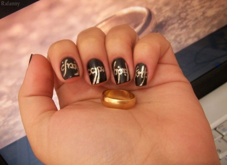 36 best Middle Earth Nail Art images on Pinterest | Middle earth ...