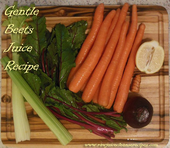 Gentle Beets Juice Recipe! A very cleansing juice that also contains blood pressure lowering benefits, and skin benefits.   #juicing #juicerecipes #juicecleanserecipes