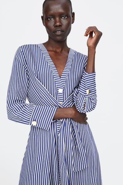ce4616ca Image 2 of BELTED STRIPED DRESS from Zara | Back To Basics | Dresses ...