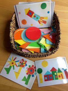 Con unos folios de colores, plástico adhesivo transparente, unas tijeras y un poco de imaginación podemos crear fantásticas figuras parti...