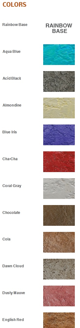rainbow water based stains color chart offered by ss specialities 29 colors to choose from - Beton Color