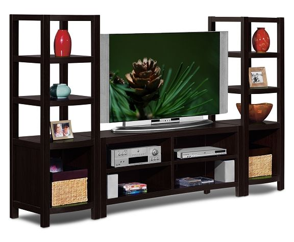 American Signature Furniture   Townsend Entertainment Wall Units  Collection 3 Pc. Entertainment Wall Unit