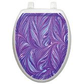 Found it at Wayfair - Classic Purple Plumes Toilet Seat Decal