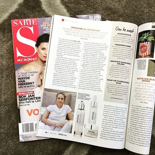 Check out the May issue of Sarie pg 68. Inspiration from nature. #entrepreneurs…