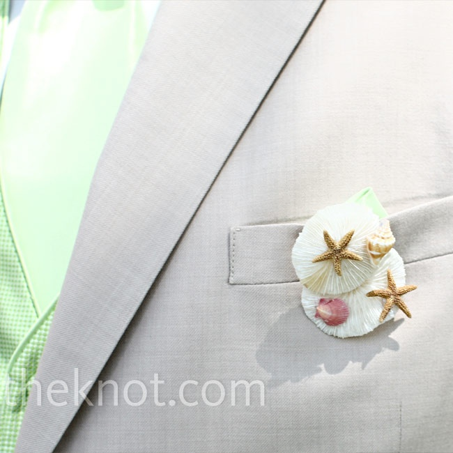 Sea Shell Boutonniere
