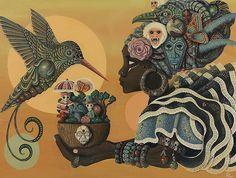 paul3 artista Jamaicano e sua obras retratando as religiões de matrizes africanas é caribenhas. Quero um desses!