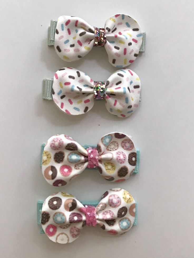 A personal favorite from my Etsy shop https://www.etsy.com/ca/listing/536844445/donut-hair-clips-sprinkle-hair-clips