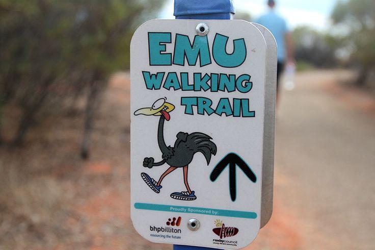 På Emu Walking Trail i Roxby Downs - Opdagelse.dk