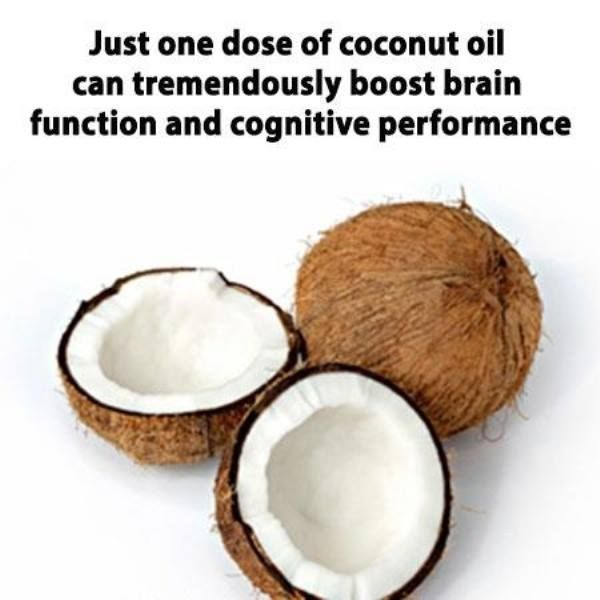 Just One Dose Of Coconut Oil Can Tremendously Boost Brain