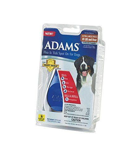 AdamsFlea & Tick Spot Onfor Dogs kills fleas ticks flea eggs flea larvae. It also kills and repels mosquitoes. It provides flea and tick protection for dogs for up to 30 days and is water resis...