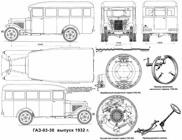 95 best vehicle blueprint images on pinterest cars model car and toys gaz 03 30 blueprint malvernweather Images