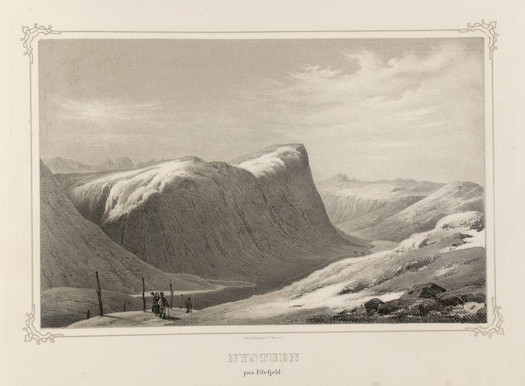 Norge fremstillet i Tegninger - Ukjent - Nystuen paa Filefjeld. jpg (4936×3632)