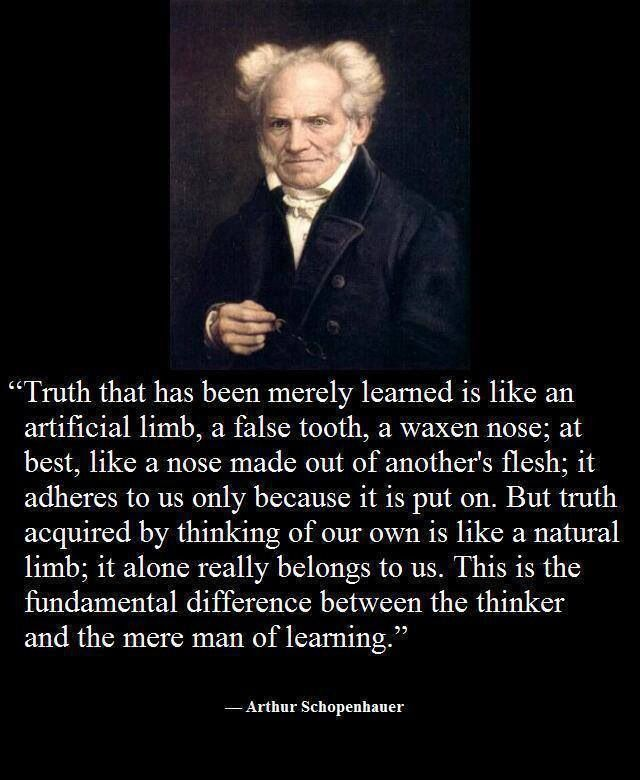 Arthur Schopenhauer- I really like this quote it reminds me of writing. In that you must research and then develop your own thoughts on a subject.