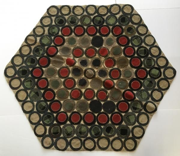 Table Top Penny Rug For Sale From Quality Antique Dealer