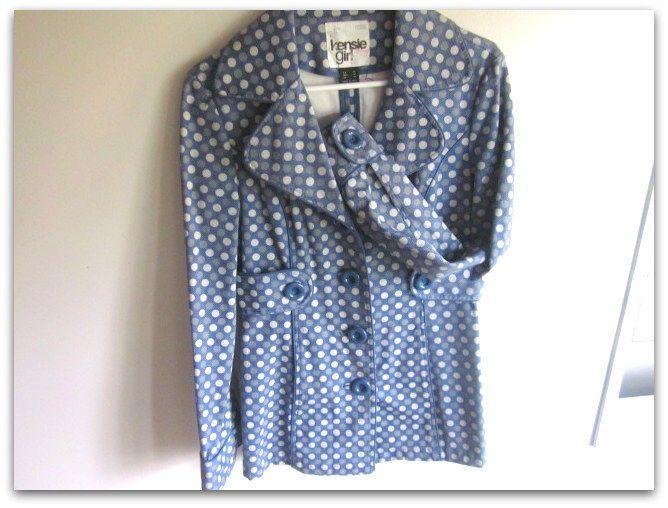 Kensie Girl M Jacket Blue Polka Dots NWOT Teen Jacket blue Polkadog Mid #KensieGirl #BasicCoat
