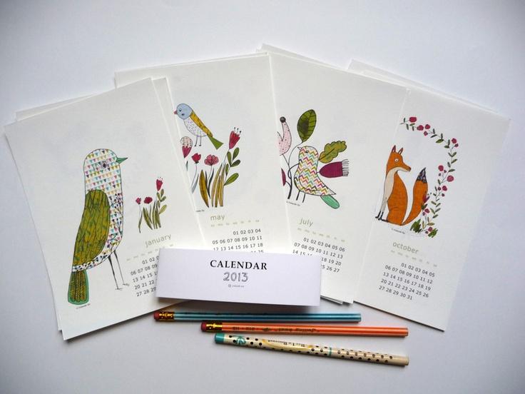 sehr schöner Kalender von Yolande Six aus Lyon