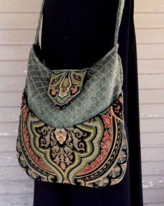 Tapestry Gypsy Bag - Bohemian, Renaissance (Black Velvet) Found on etsy.com